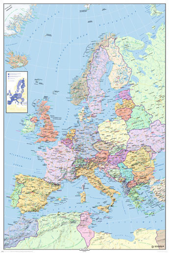 Europe map in german language maxi paper poster laminated posters europe map in german language maxi paper poster gumiabroncs Images