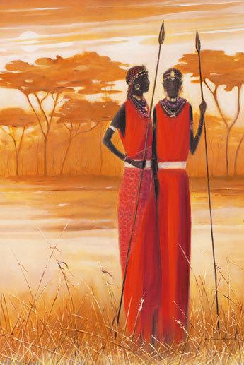 Laminated African Style Masai Maxi Poster Laminated