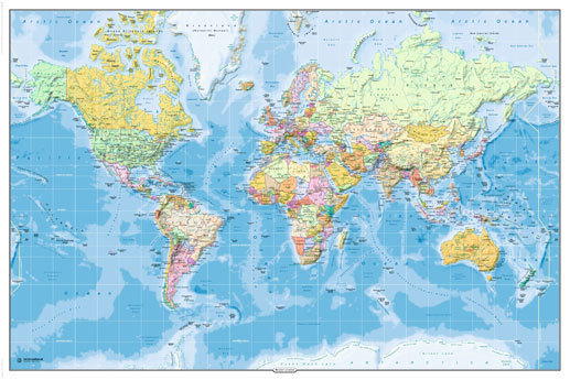 World map 2011 edition maxi paper poster laminated posters world map 2011 edition maxi paper poster gumiabroncs Images