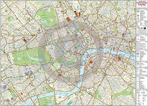 central london map maxi paper poster