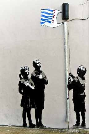 Banksy - Tesco Flag Mini Paper Poster