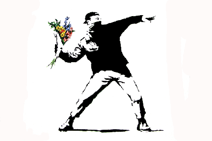 Banksy - Hooligan Mini Paper Poster