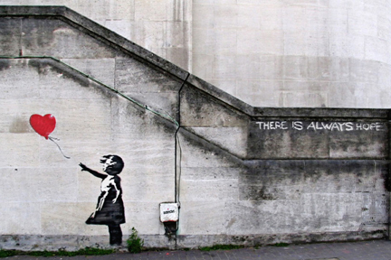 "Banksy - Balloon Girl ""There Is Always Hope"" Mini Paper  Poster"
