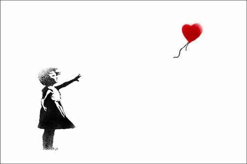 Banksy - White Balloon Girl Mini Paper Poster