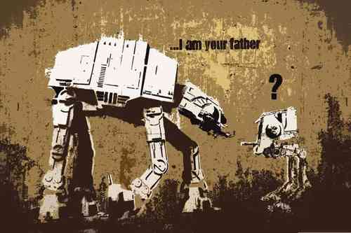 Banksy - I am Your Father Pop Art Mini Paper Poster