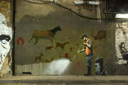 Banksy - Street Cleaner Mini Paper Poster