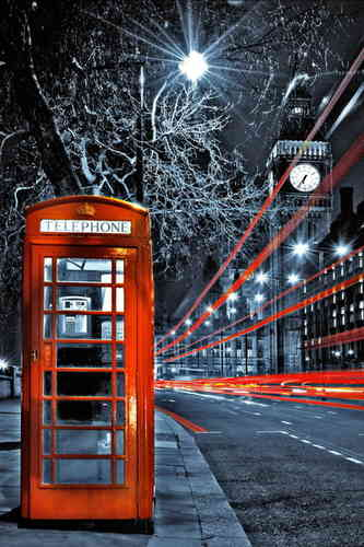 London - Red Telephone Box Mini A2 Paper Poster
