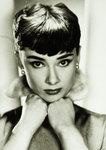 Black Framed - Audrey Hepburn  Face Pose Maxi Poster