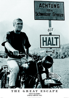 Great Escape Steve McQueen Maxi Poster