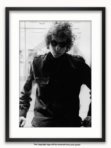 Framed with WHITE mount Bob Dylan Savoy 1967 - A1 poster