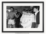 Framed with WHITE mount Muhammad Ali & The Beatles - A1 Poster