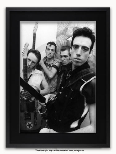 Framed with BLACK mount The Clash - Mogador Theatre Paris 1981 - A1 poster
