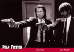 Black Framed - Pulp Fiction Guns Red Border Maxi Poster