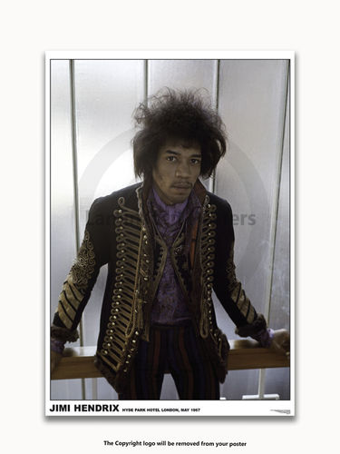 Laminated - Jimi Hendrix - Hyde Park 1967 - A1 Poster