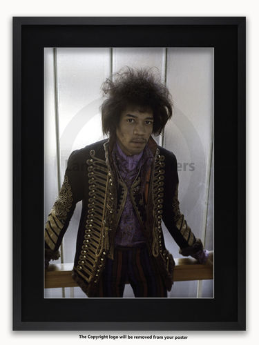 Framed with BLACK mount Jimi Hendrix - Hyde Park 1967 - A1 Poster