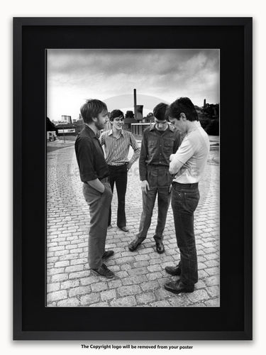 Framed with BLACK mount Joy Division Strawberry Studios July 1979 - A1 Poster
