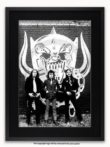 Framed with BLACK mount Motorhead - A1 Heavy Metal Poster