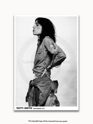 Laminated - Patti Smith - Amsterdam 1976 - A1 Rock Poster