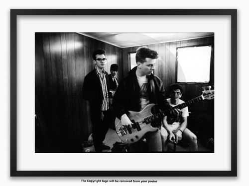 Framed with WHITE mount The Smiths - Glastonbury 1984 - A1 Poster
