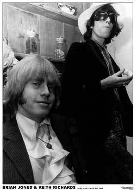 Rolling Stones Brian and Keith A1 paper rock poster