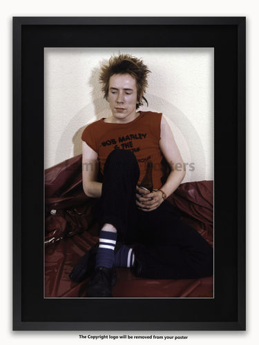 Framed with BLACK mount Sex Pistols - Johnny Rotten 1977 - A1 Poster