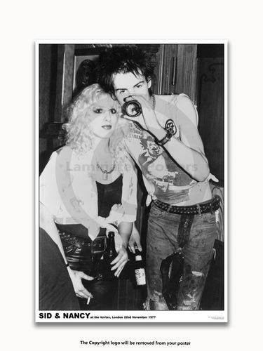 Laminated - Sex Pistols - Sid and Nancy - Vortex 1977 - A1 Punk Rock Poster