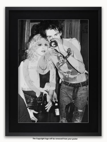 Framed with BLACK mount Sex Pistols - Sid and Nancy - Vortex 1977 - A1 Punk Rock Poster