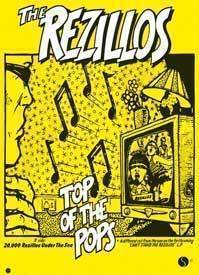 Rezillos Top of the Pops A1 paper new wave poster