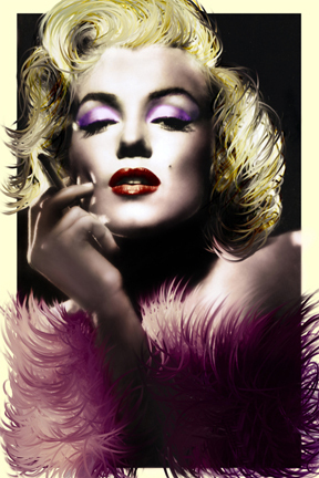 Marilyn Monroe - Art Deco Feathers Mini A2 Paper Poster