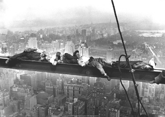 New York Construction Workers Asleep atop a Skyscraper A2 Paper Poster
