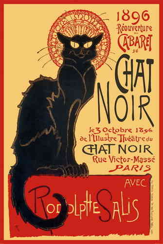 Chat Noir - French Art A2 Paper Poster