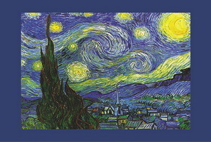 Van Gogh - Starry Night Steeple Mini A2 Paper Poster