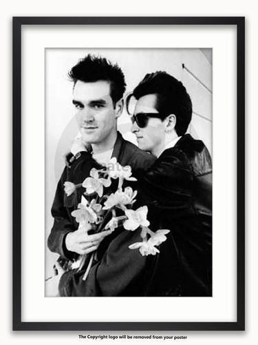 Framed with WHITE mount The Smiths - Morrisey & Marr - Manchester 1983 A1 Poster