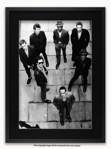 Framed with BLACK mount The Specials - Coventry March 1979 - A1 Poster