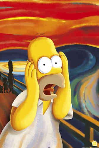 Simpson's - Homer - Scream / Munch  Maxi Paper Poster