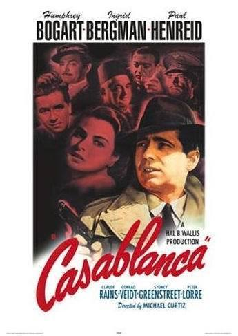 Casablanca - Red Text US - Maxi Paper Poster
