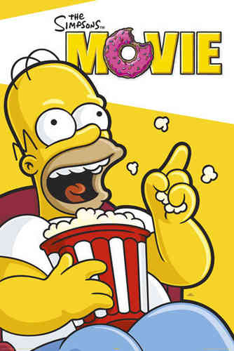 The Simpsons - Movie - Popcorn Maxi Paper Poster