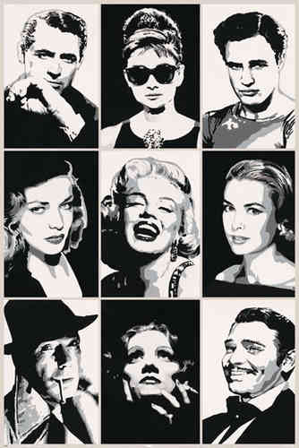 Hollywood Legends - Maxi Paper Poster
