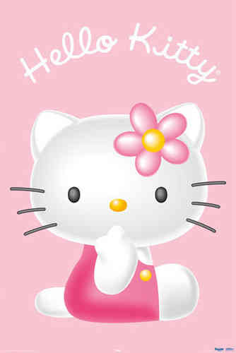 Hello Kitty - Pink - Finger Maxi Paper Poster