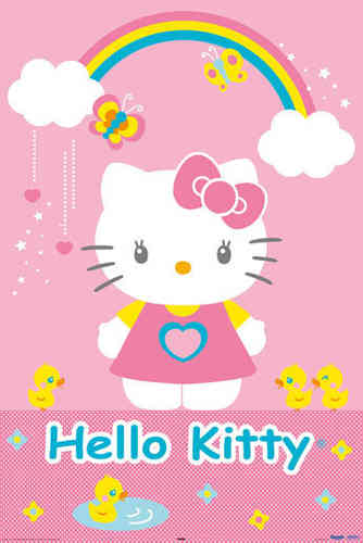 Hello Kitty - Ducks Maxi Paper Poster