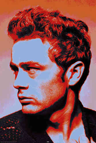 James Dean - Red Pop Art - Maxi Paper Poster