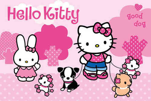 Hello Kitty - Puppies Maxi Paper Poster