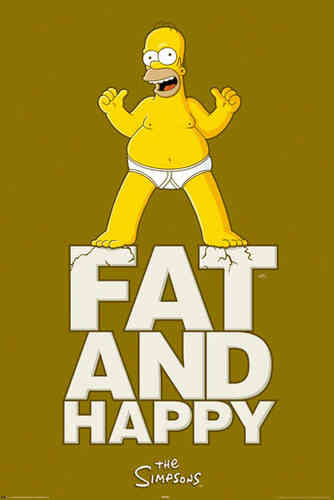 Simpsons - Homer - Fat & Happy Maxi Paper Poster