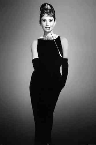 Audrey Hepburn - Little  Black dress - Maxi Paper Poster