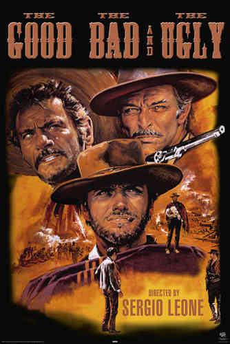 The Good The Bad and The Ugly - Brown Art - Maxi Paper Poster