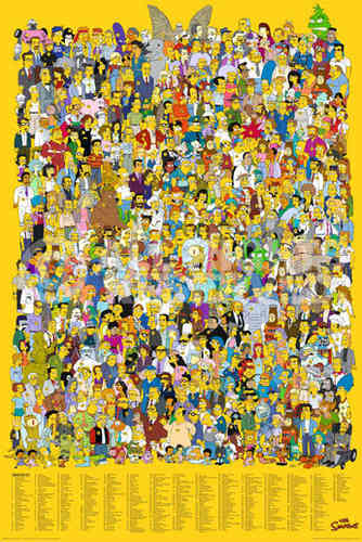 Simpsons - Characters Key - V - English Maxi Paper Poster