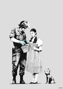 Banksy - Oz Dorothy Stopped and Searched Mini Paper Poster