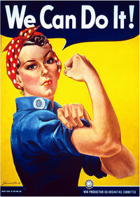 "Rosie the Riveter ""We can Do It""  A2 Paper Poster"