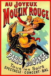 Moulin Rouge - French Art - A2 Paper Poster