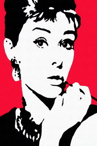 Audrey Hepburn - Red Pop Art Mini A2 Paper Poster